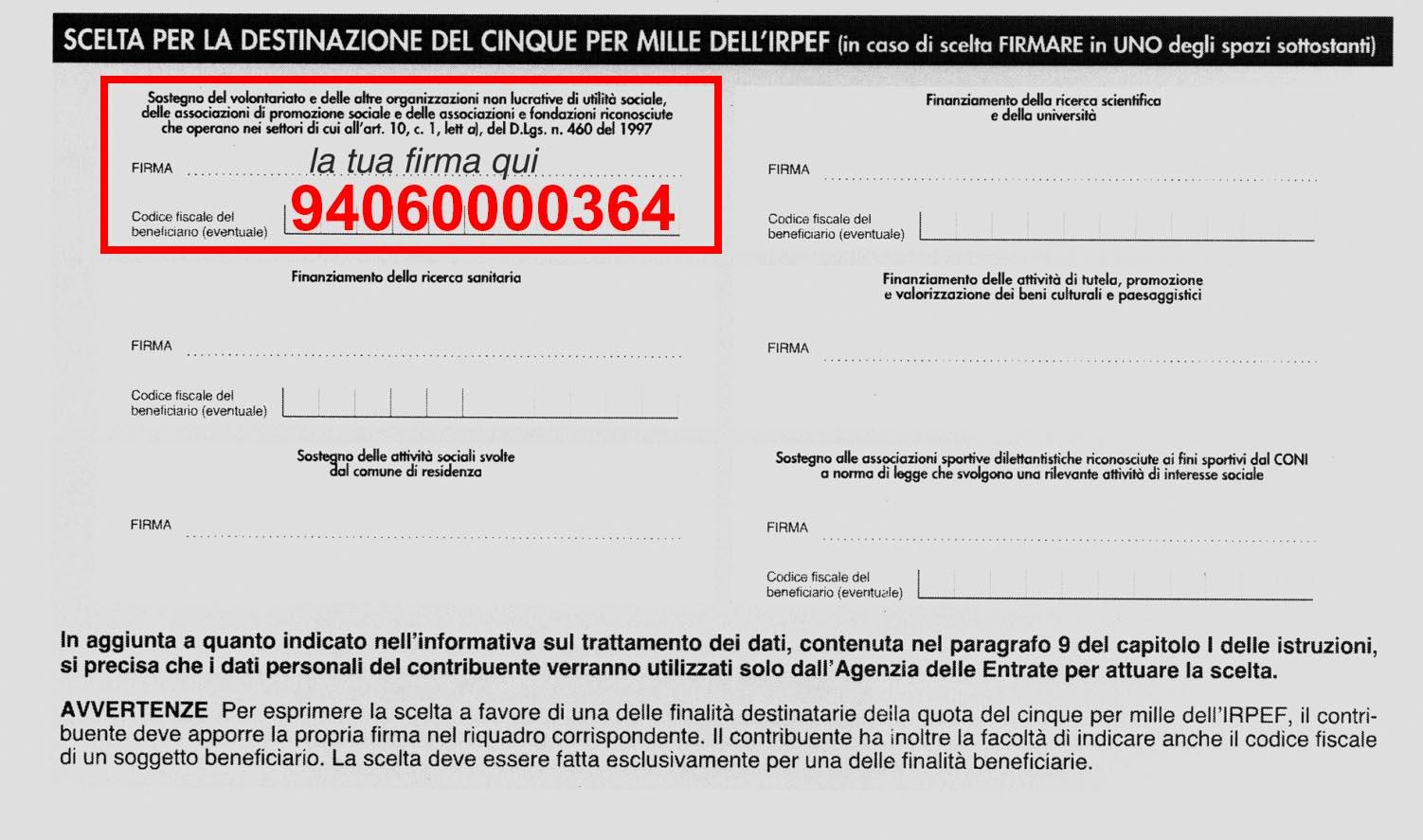 Sostienici avap formigine for Denuncia redditi 2017